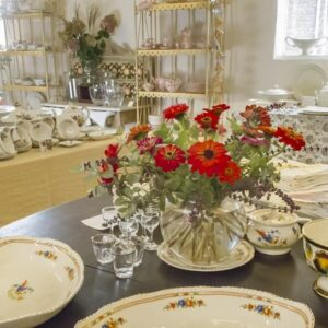 Tableware & Gardenflowers-2