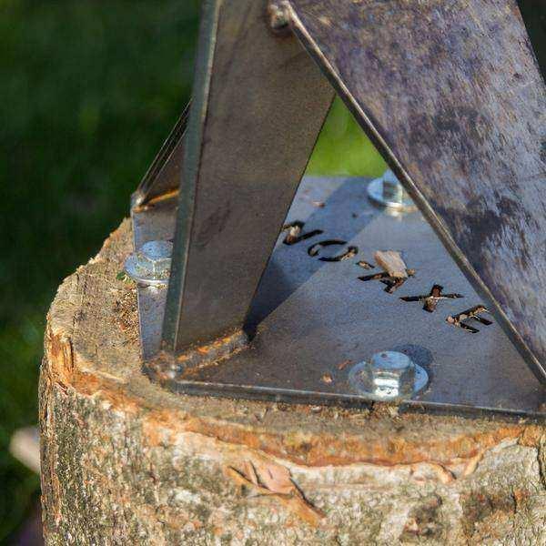 NO-AXE blank staal met zware hamer