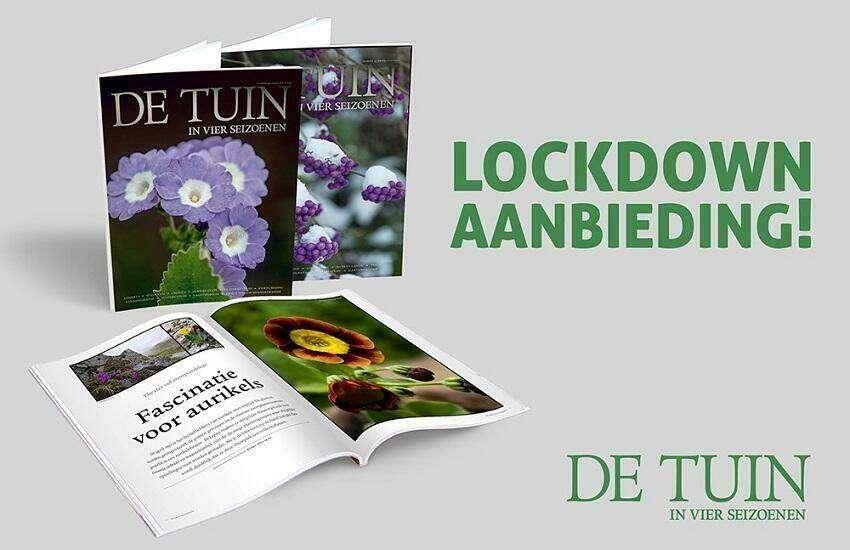 Lockdown aanbieding De Tuin in vier seizoenen